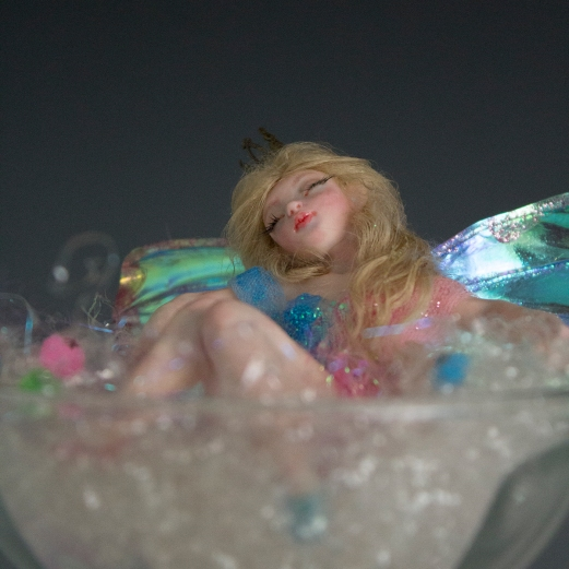 Sleeping beauty fairy ooak art doll_06
