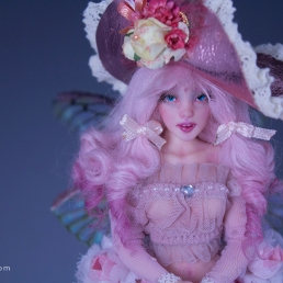 fairy polymer clay art doll
