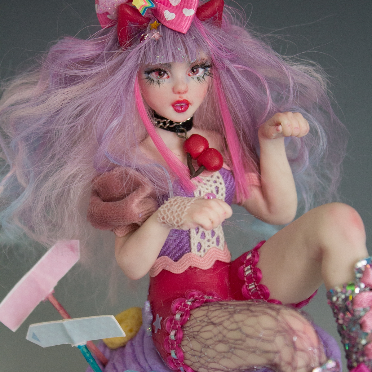 alice in wonderland art doll